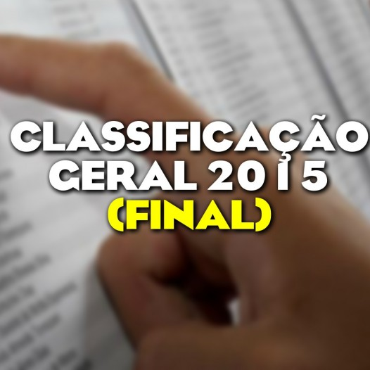 Classificação Geral 2015 (Final)
