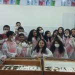 Aula prática sobre artrópodes e moluscos dos alunos do 7Ef9