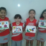 """Projeto de Literatura """"Caraminholas de Barrigapé"""" dos alunos do 3º ano do fundamental"""
